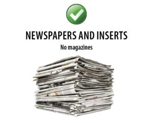 Southern Oregon Sanitation Recycle Newspapers and Inserts