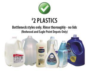 Southern Oregon Sanitation Recycle #2 Plastics