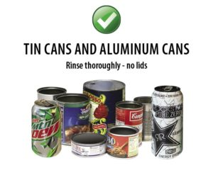 Southern Oregon Sanitation Recycle Tin and Aluminum Cans