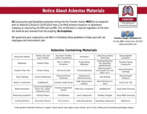 thumbnail of Asbestos Flyer