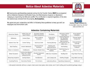 thumbnail of Asbestos Flyer